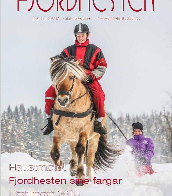Årets siste utgåve av «Fjordhesten»